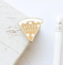 Old English Company Pizza Lover Pin