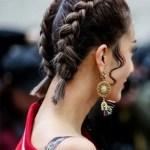 french braids short haircut