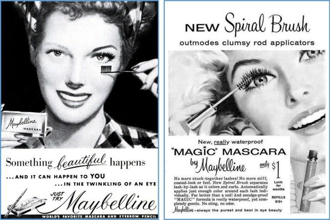 vintage mascara ad maybelline