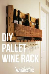 DIY Wine Rack from a Pallet - And Possibly Dinosaurs