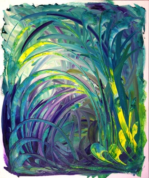 abstract art pittura arte astratta foresta