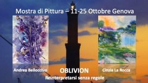 OBLIVION MOSTRA PITTURA Andrea Bellocchio CINZIA LA ROCCA