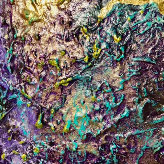 Dettagli di colore e materici - Andrea Bellocchio - 120x80 - acrilico su tela con pastelli e vetro frantumato-