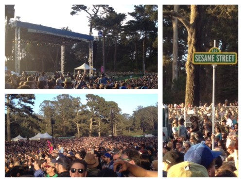 The crowds were thick and fun at the Flogging Molly performance in Golden Gate Park, San Francisco.