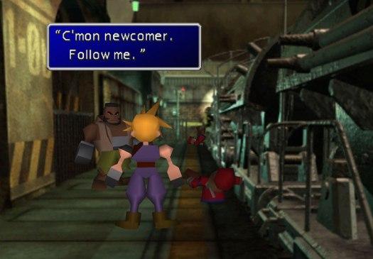 FF7 gameplay.