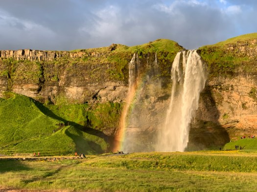 Seljalandsfoss, a stunning waterfall with a near constant rainbow, was my favorite experience of the trip.