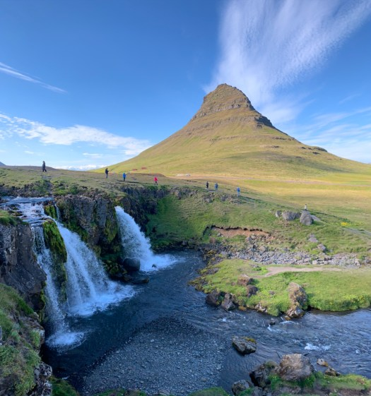 Kirkjufellsfoss at the Snaefellsnes National Park, Iceland.