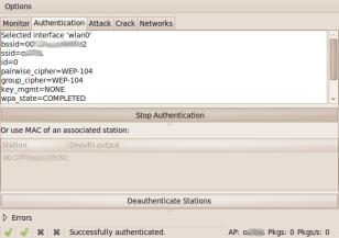 WepCrack-authenticate