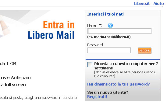 Libero Mail Spam