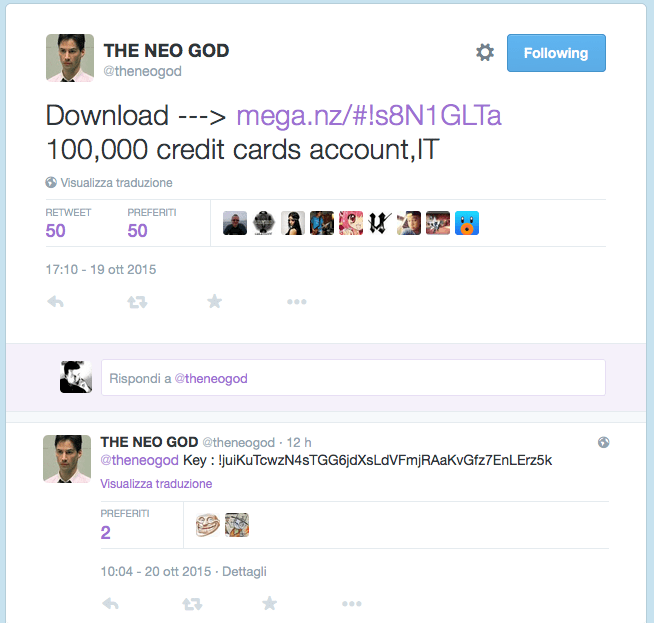 The Neo God Tweet 2
