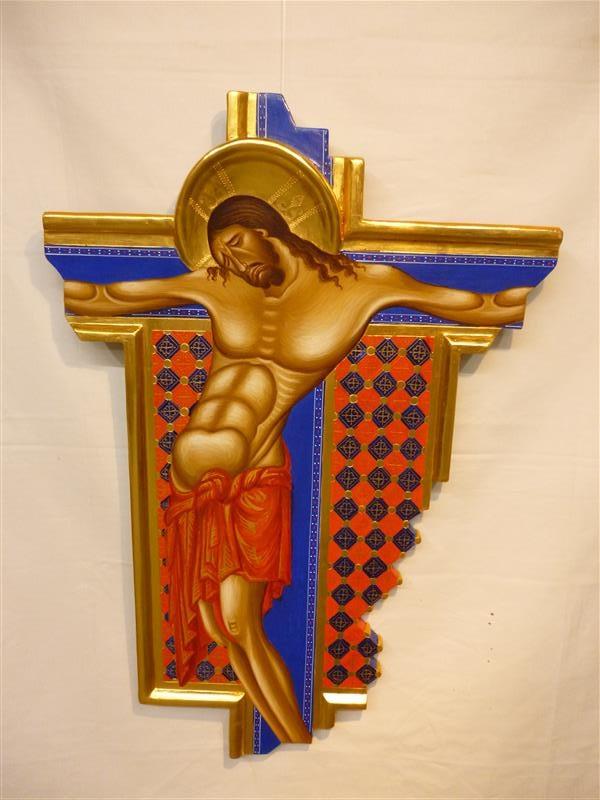 da Crocifisso di Cimabue particolare Andrea Ippoliti arte restauro pittura su commissione