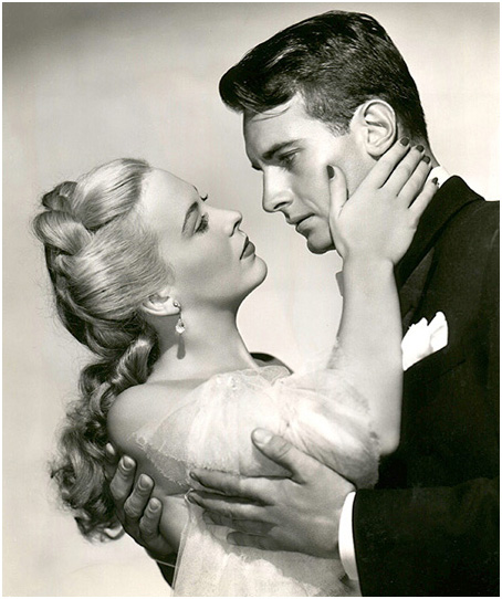 "Andrea King and Helmut Dantine in ""Shadow of a Woman."" Warner Bros., 1946."