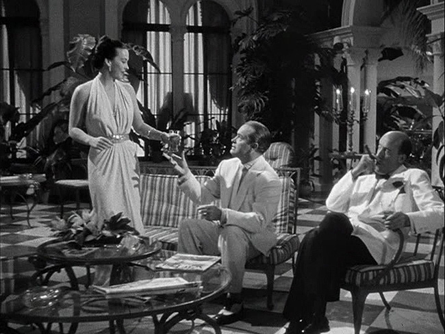 "Andrea King, Bob Hope, and Fred Clark in ""The Lemon Drop Kid,"" 1951."