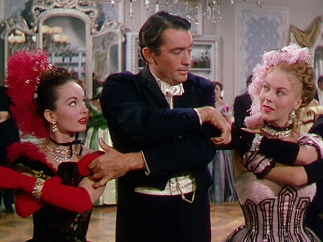 "Ann Blyth, Gregory Peck, and Andrea King in ""The World in His Arms."" Universal, 1952."