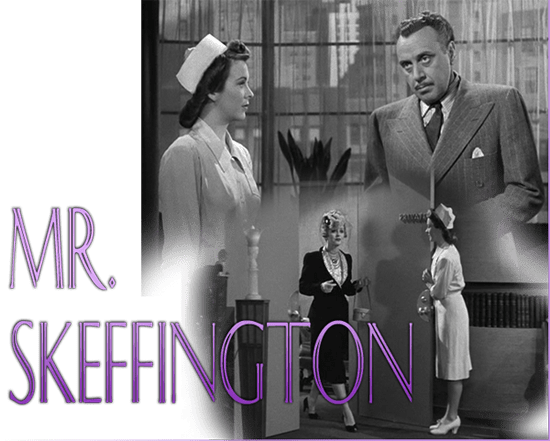 "Andrea King, George Coulouris, and Bette Davis in ""Mr. Skeffington,"" Warner Bros., 1944."