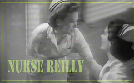 "Andrea King as Nurse Reilly and Marjorie Riordan as Ensign Jameson in 1945's ""Navy Nurse."" Warner Bros."