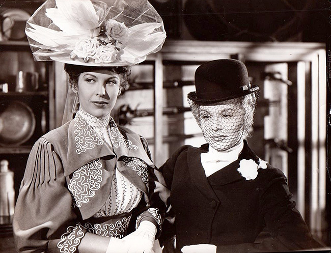 """Andrea King and Eva Gabor in """"Song of Surrender."""" Paramount, 1949."""