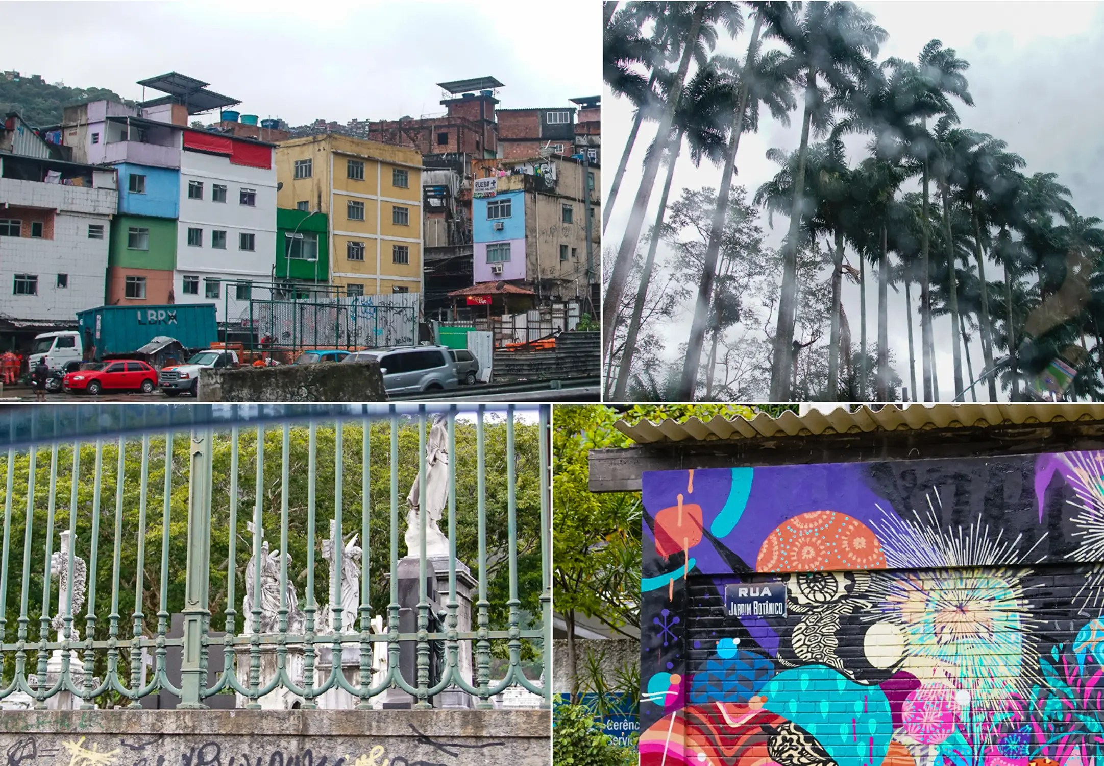 Top Left: Rocinha, the largest Favela in Rio is adjacent to the wealthiest area of Rio. They share the same zip code interestingly enough.