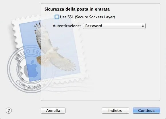 Configurare Mail su Mac - Step 3