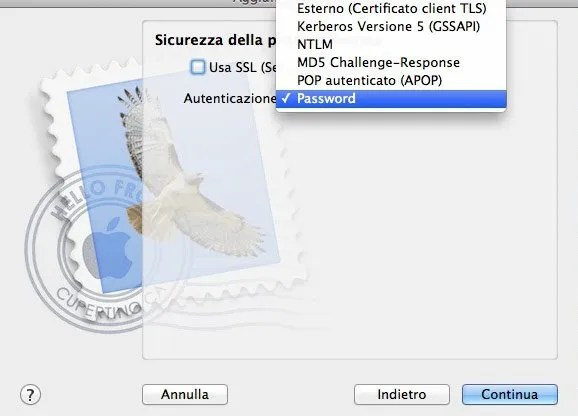 Configurare Mail su Mac - Step 4