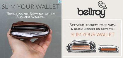 Comunicazione Web - Bellroy - Slim your Wallet Adwords