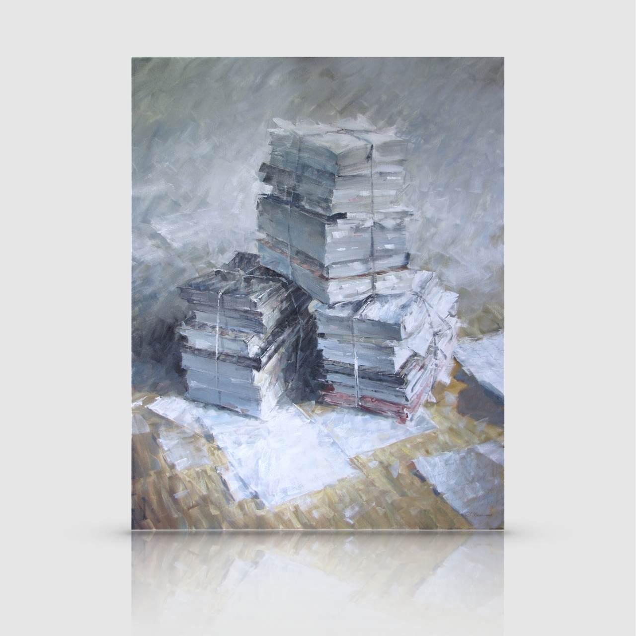 01610 Pile di libri 80x100
