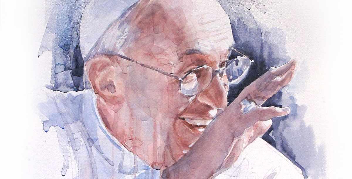 portrait of francesco 1 in watercolor