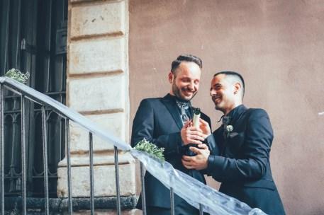 Two men wedding