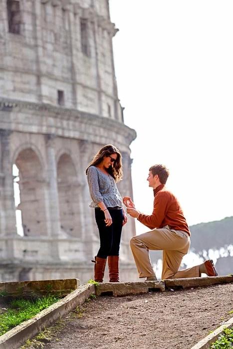 Surprise Wedding Proposal Photographer Rome Italy