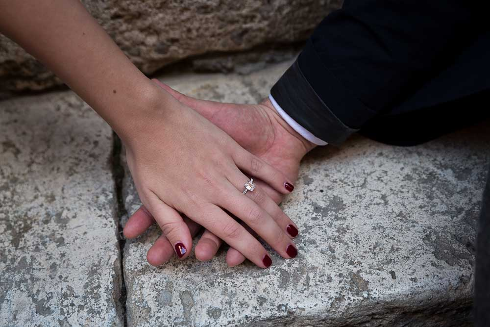 Engagement Photo Shoot in Rome  Walking in the alleyways