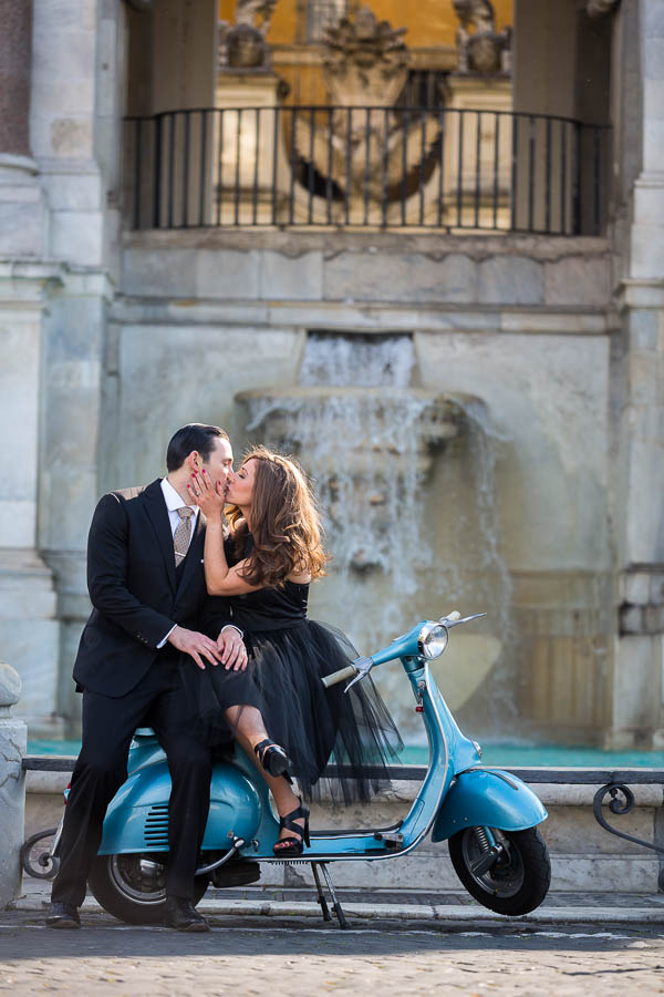 Vespa Engagement Photo Session in Rome Italy  photoshoot
