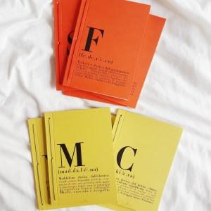 caderno | nomes . names
