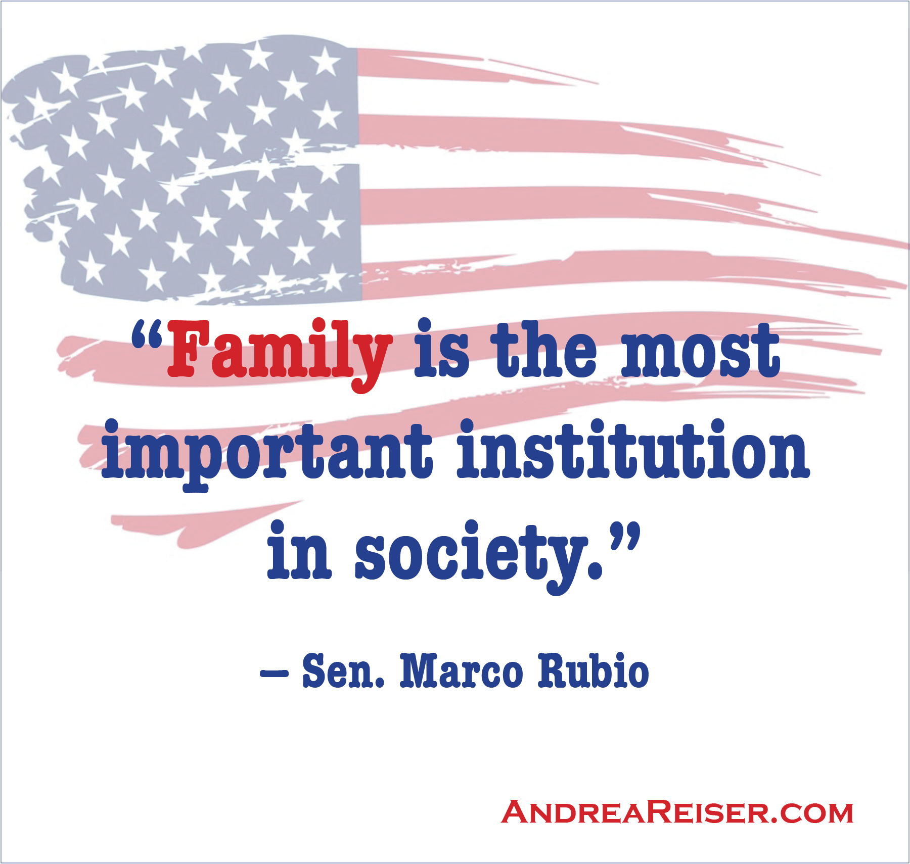 Family is the Most Important Institution in Society