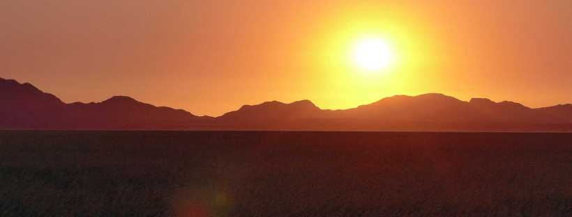 Sunset in the Tiras Mountains, Namibia