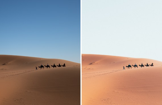 Before After 05 Morocco Desert Sky