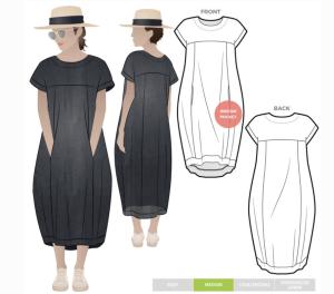 White Linen Dress  sewing fast!!!  Andrea Schewe Design