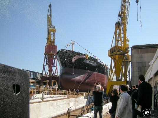 TRANSPETRO Lançamento navio Celso Furtado no estaleiro Mauá