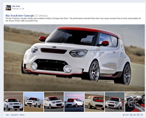 Kia - Highlighted Facebook photo album