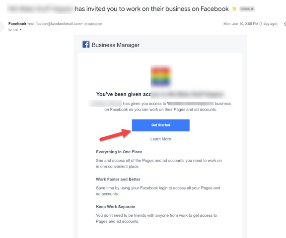 Facebook Business Manager Invitation