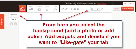 design your facebook tab