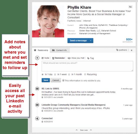 LinkedIn CRM tool