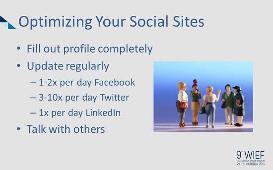 Optimize your social sites