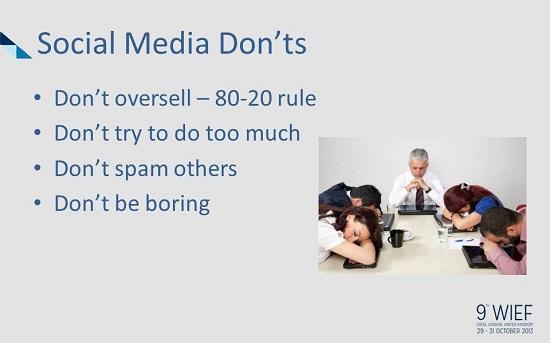 Social Media Donts