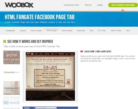Woobox facebook tabs