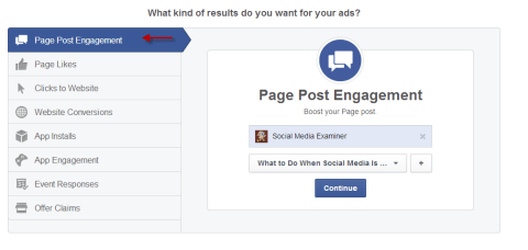 Facebook Page Post Engagement