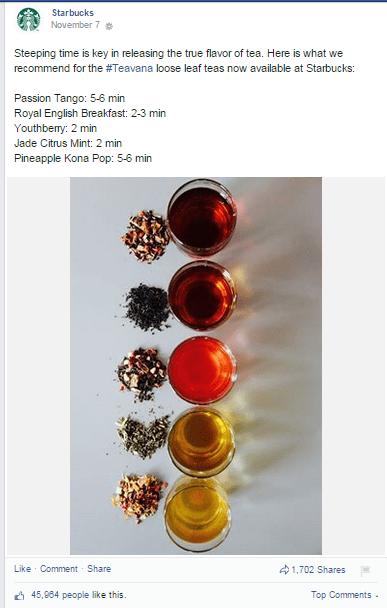 Starbucks tea tip