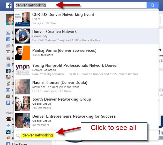 Search Facebook