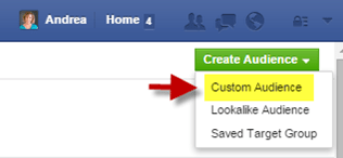 Start Facebook Custom Audience