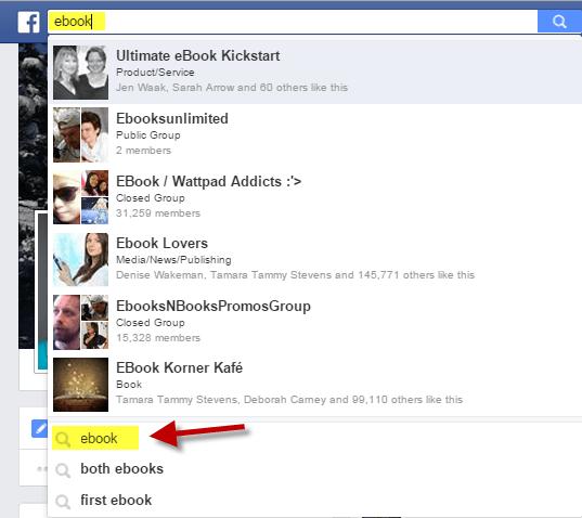 Start Facebook Graph Search