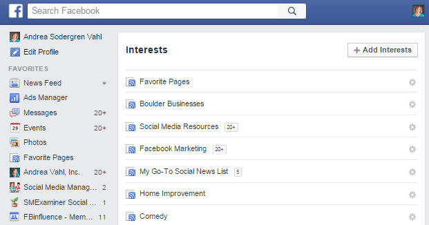 Accessing Interest Lists